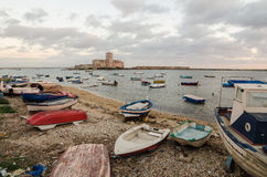 Trapani, ilha de Sicília, Itália Fotografia de Stock