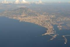 Trapani och havet Arkivfoto