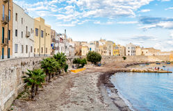 Trapani old town in Sicily, Italy. Royalty Free Stock Photography
