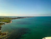 Trapani salina veduta dall'aeroplano - Sicilia Fotografie Stock Libere da Diritti