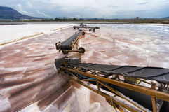 Trapani salt pan in Sicily, Italy Royalty Free Stock Photos