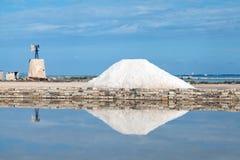 Trapani salt pans Stock Image