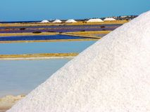 Trapani salt pans. Salt pans and a nature reserve at Mozia, near the town of Trapani in Sicily, Italy royalty free stock image