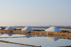 Trapani - Sea water salt ponds Royalty Free Stock Image