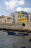 Trapani sicily Old quater with boats Royalty Free Stock Photos