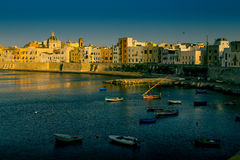 Trapani, Siclily at sunset. Trapani is a city on the west coast of Sicily Royalty Free Stock Image