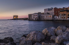 Trapani. Sunset at Trapani, Sicily, Italy Royalty Free Stock Images