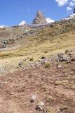 Trapecio山,岩石峰顶 免版税图库摄影