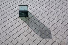 Trapeira de vidro em um telhado de ardósia imagem de stock
