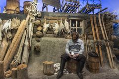 Trapery kabinowi przy Biegunowym Muzealnym Tromsø obrazy royalty free