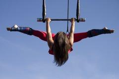 Trapeze di volo Fotografia Stock Libera da Diritti