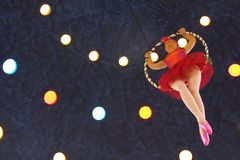 Trapeze doll Royalty Free Stock Image