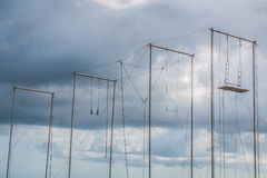 Trapeze Outdoors With Cloudy sky Stock Image