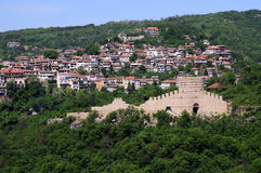 Trapezitsa Fortress and Residential Area of Veliko Tarnovo Royalty Free Stock Photography