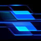 Trapezium. The blue trapezium in black background Stock Images