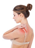 Trapezius ache Royalty Free Stock Photography