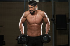 Trapezius apto de Doing Exercise For do atleta Imagem de Stock