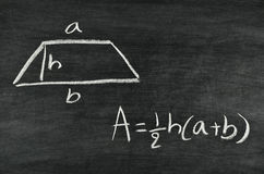 Trapezoid area formula Stock Photography