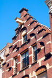 Trapgevel or stair-step gable, Amsterdam Royalty Free Stock Images