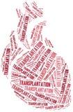 Trapianto cardiaco Illustrazione della nuvola di parola illustrazione vettoriale