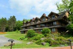 Trapp-Familien-Häuschen, Stowe, Vermont, USA lizenzfreies stockfoto