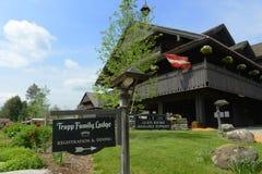 Trapp-Familien-Häuschen, Stowe, Vermont, USA stockbild