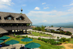 Trapp Family Lodge, Stowe, Vermont, USA. Trapp Family Lodge is an Austrian style named after the Von Trapp Family, which is the inspiration of the famous movie Stock Images