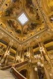 Trappa av Palais Garnier, opera Paris Frankrike Royaltyfria Foton