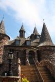 trappa för boldtslottklocka som tower Royaltyfri Foto