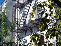 Trappa för brandflykt i NYC Royaltyfria Bilder