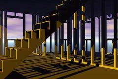 trappa för fallramhus Arkivfoton