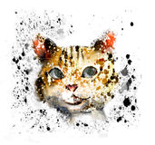 trappa för katt s royaltyfri illustrationer