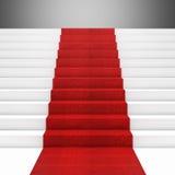 Trappa för röd matta Royaltyfri Foto