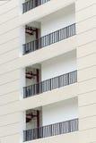 trappa för tak för rør för del för byggnadsfacade glass Arkivfoton