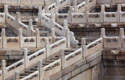 Trappa i den Gugong Forbidden City slotten - Peking Kina arkivbild