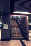 Trappa i den Hong Kong gångtunnelen Arkivfoto