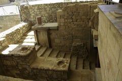 Trappa i Knossos, Kreta Royaltyfri Foto