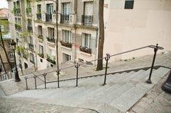 Trappa i Montmartre Royaltyfri Bild
