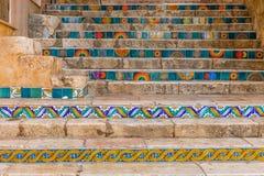 Trappa i Taormina Royaltyfri Foto