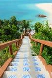 Trappa ner till stranden Royaltyfri Fotografi