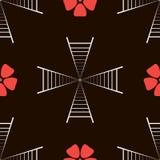 Trappa- och blommamodell Arkivbild