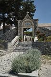 Trappa och nyckel till den ortodoxa kloster Arkivfoton