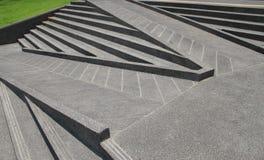 Trappa och ramper som göras från cementer Fotografering för Bildbyråer