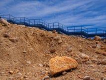 Trappa på berget Arkivbilder