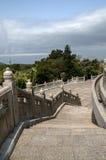 Trappa på den buddistiska templet Royaltyfri Bild