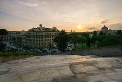 Trappa på den Capitoline kullen Royaltyfri Fotografi