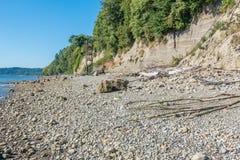 Trappa på Shoreline Arkivfoto