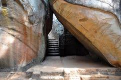 Trappa på Sigiriya Sri Lanka Arkivfoto