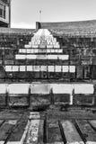 Trappa som göras av tegelstenar royaltyfri foto