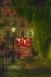 Trappa som leder till överkanten av Montmartre Royaltyfri Foto